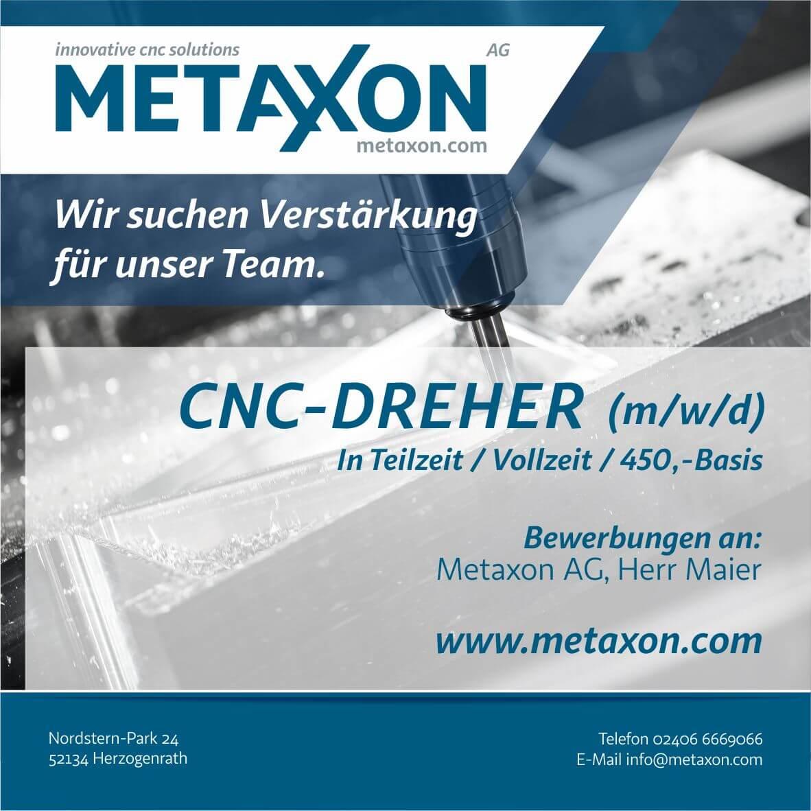 Metaxon AG Stellenazeige